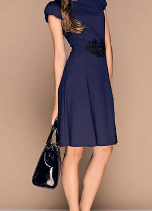 Элегантное  синее платье от украинской тм vilonna