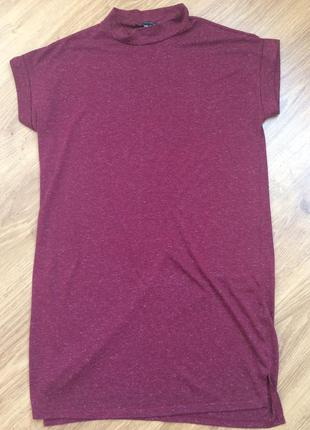 Платье футболка прямого кроя