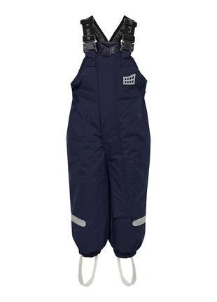 Детские зимние штаны полукомбинезон р. 98-104 lego wear tec cool