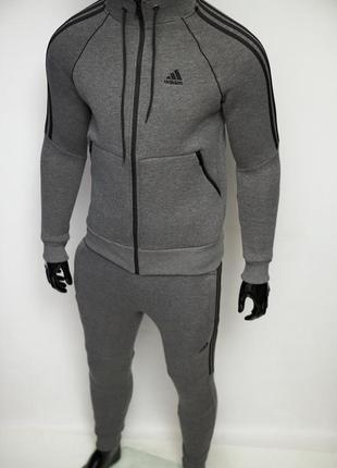 Костюм спортивный теплый в стиле adidas 8321