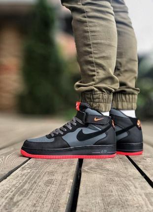Nike air force 1 high black чёрные мужские кроссовки наложенный платёж купить