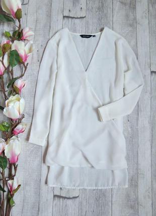Шикарная блуза на запах фирмы new look