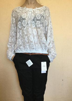 Новая ажурная блузочка размер л глория джинс