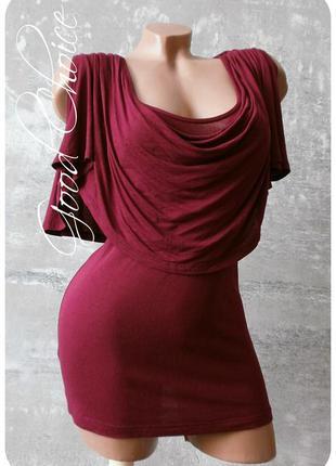 Вискозная блуза бургундского цвета - турция/french connection