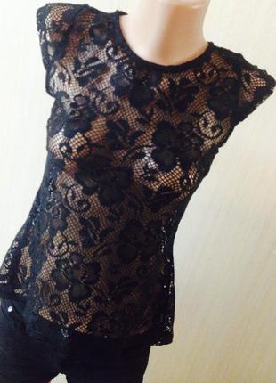 Сексуальная блуза кружево yd