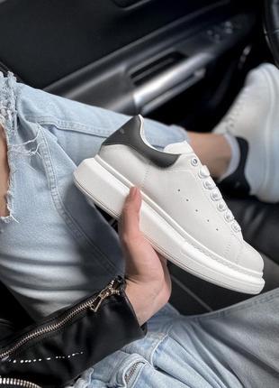 Alexander mcqueen white classic  кожаные кроссовки белого цвета 😍
