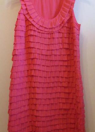 Распродажа красивое нарядное платье next рюши размер 10
