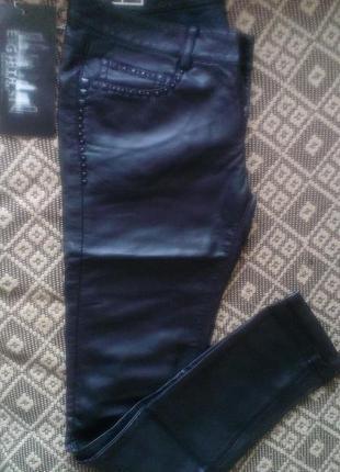 Кожаные новые брендовые штаны, р.м (46)