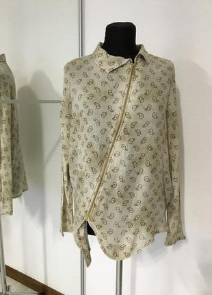 Рубашка в стиле бохо, блуза оверсайз в модный принт