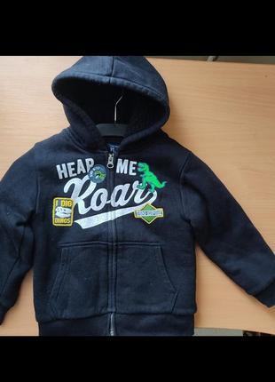 Толстовка на меху, куртка утеплённая children's place