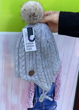Теплая зимняя шапка h&m