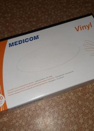 Виниловые перчатки medicom