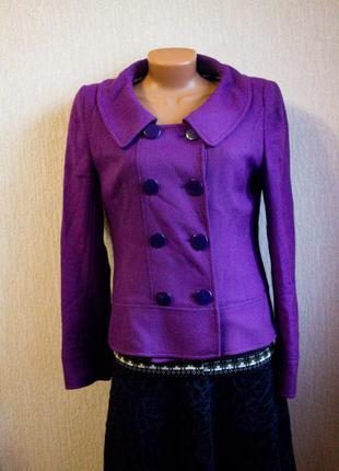 Фиолетовое пальто пиджак жакет