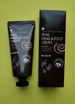 Крем для рук и ног с муцином улитки mizon snail hand and foot cream