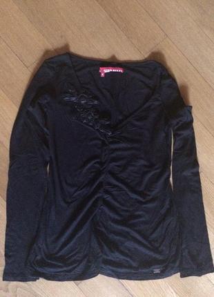 Блуза черная miss sixtу