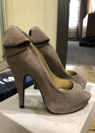 Туфли с открытым носком