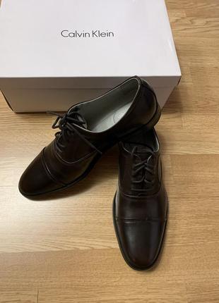 Брендовые кожаные мужские туфли calvin klein usa,классические туфли