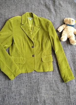 Велюровый винтажный пиджак оливковый.