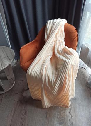 Плед бамбук объёмная полоска шарпей
