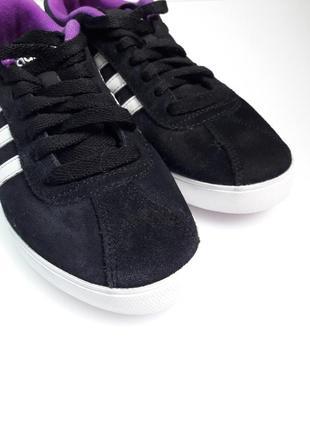 Кроссовки женские черные замша courtset w aw50016 фото