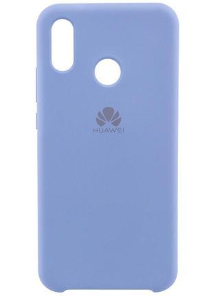 Оригинальный чехол silicone case с микрофиброй для huawei p20 lite