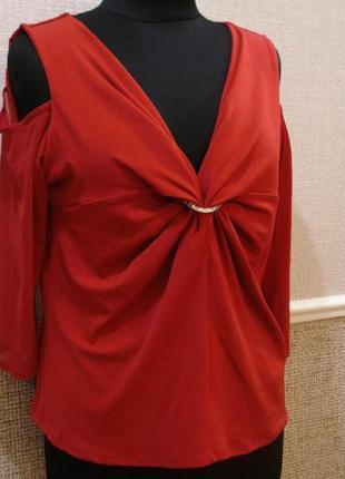 Трикотажная блузка с рукавом 3/4 большого размера 22(5xl)