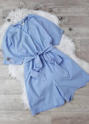 Голубой стильный комбинезон monki