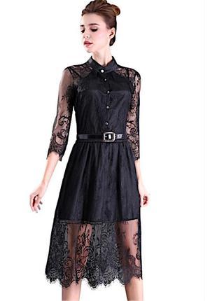 Шикарное вечернее платье 👗 французское кружево