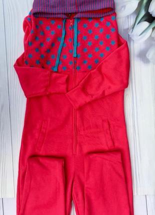 Тёплая трикотажная пижама,слип,комбинезон на байке