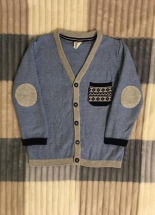 Кардиган свитер пуловер h&m 2-3 года 92-98см