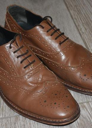 Мужские кожаные туфли onfire оригинл оксфорды броги англия размер 42-43