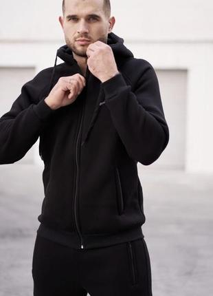 Спортивный костюм nike чёрный на байке, футер