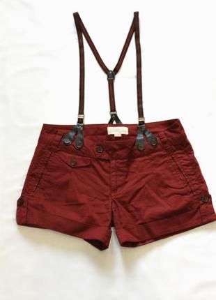 Коричневые шорты с подтяжками