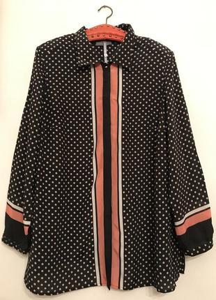 Блузка,рубашка в горошек