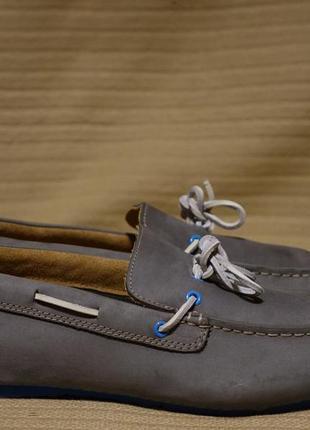 Благородные комфортные кожаные мокасины серого цвета clarks англия 12 ( 31,5 см.)