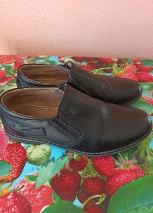 Туфли кожаные, 31р-р,19,5см стелька