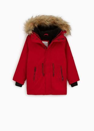 Куртка -парка две в одной zara оригинал-распродажа!