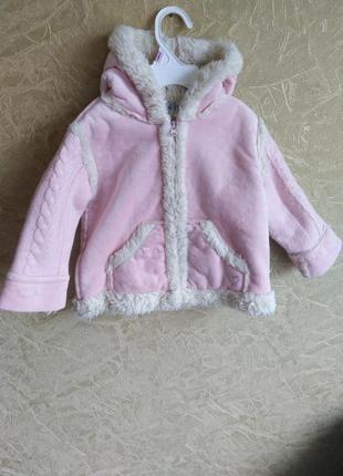 Куртка з вязаними рукавами