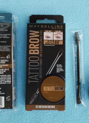 "Maybelline new york помада для бровей ""brow pomade"", оттенок 03, коричневый, 3,5 г"