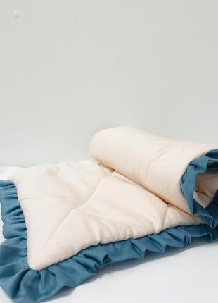 Бортики в кроватку стёганные персиковые