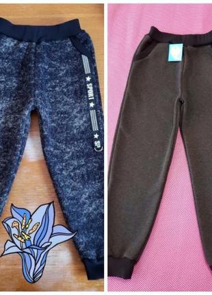 Тёплые подростковые спортивные штаны с начесом