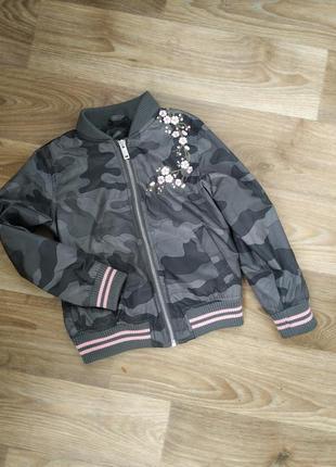 Бомбер ,ветровка,куртка для девочки