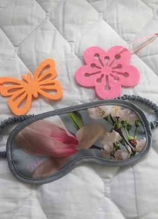 Красивая маска для сна\отдыха ted baker повязка на глаза