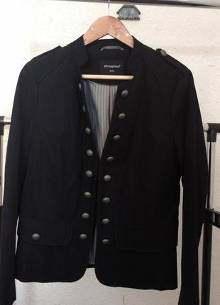 Стильный черный пиджак жакет большой размер