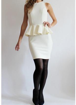 Крутейшее платье с баской от atmosphere