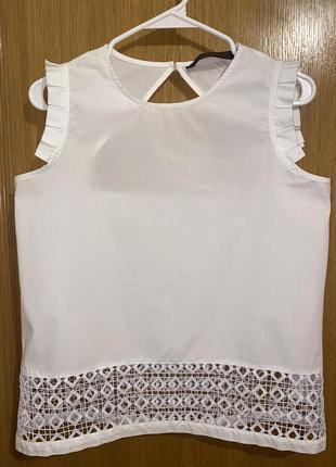 Блузка с кружевом zara 38 м