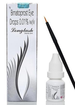 Лонглеш longlash 5мл. средство для роста ресниц и бровей с голограммой