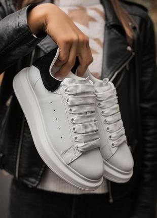 Женские кроссовки alexandr mcqueen black/white