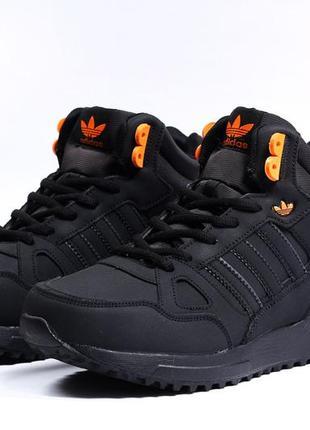 Зимние мужские ботинки adidas 41,42,43,44,45,46 размер нубук и мех натуральные