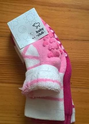 Носочки махровые для девочки c&a германия.упаковка 3 пари.